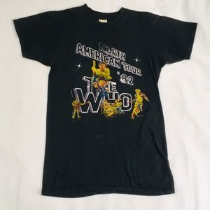 "Vintage 1982 ""The Who"" North American Tour T-Shirt"
